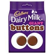 Cadbury Dairy Milk Giant Chocolate Buttons Bag119g 2 for £2