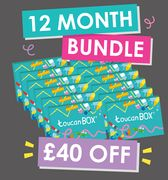 Toucan Box 12 Month Deal - save £40 - Great Art Boxes for Kids!