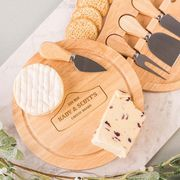 Personalised Wooden Cheeseboard Set - Cheese Lovers