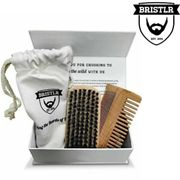Bristlr Beard Brush & Comb, Styling & Shaping Beard, Mustache Christmas Gift Him