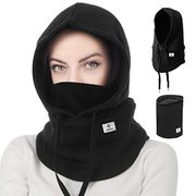 Leyuee Balaclava, Face Mask Soft Neck Warmer, Balaclava Hood Mask