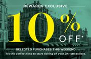 Get Ready for Christmas with 10% off Selected Purchases