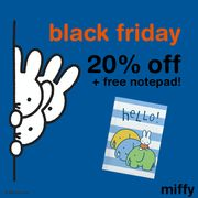 BLACK FRIDAY SALE! 20% off plus a FREE NOTEBOOK