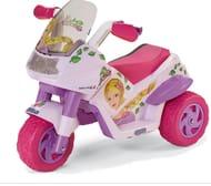 Peg Perego Raider Princess 6V Kids Electric Ride on Trike - Purple/Pink