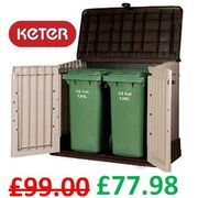 Keter Store-It out MIDI - Outdoor Garden Storage Shed - AMAZON #1 Best Seller