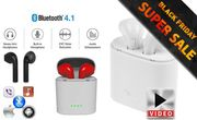 Wireless Bluetooth Earphones with Charge Box - 5 Colours