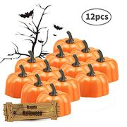 Orange Pumpkin Tealights, LED 3D Pumpkin Lights Flameless Candle 5% Coupon