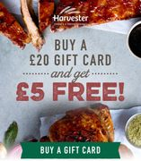 Buy a £20 Gift Card, Get £5 Extra Free