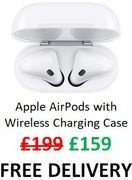 SAVE £40 Apple AirPods with Wireless Charging Case + FREE DELIVERY