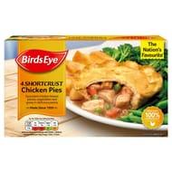 Birds Eye 4 Shortcrust Chicken Pies 620g £1.75