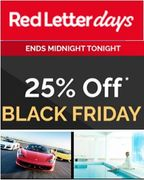 CYBER MONDAY! 25% off EXPERIENCES at Red Letter Days