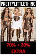 Up to 70% off EVERYTHING + an EXTRA 20% off at Pretty Little Thing