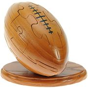 Rugby Ball 3D Jigsaw Puzzle for Grown Ups and Children + Free Keyring