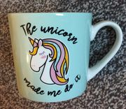 The Unicorn Made Me Do It Cup. Cute Mug from Morrisons