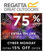 CYBER MONDAY: UP to 75% off + EXTRA 15% off at REGATTA
