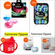 8 Tommee Tippee Items Reduced ( Priced from £0.79p - £3.49.)
