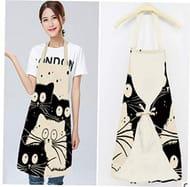 1Pcs Kitchen Apron Cute Cat Printed Sleeveless Cotton Linen Apron FREE DELIVERY
