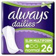 Always Dailies Slim Multiform Panty Liners X 26