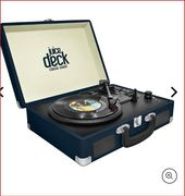 CHEAP! GPO Retro Jam 3-Speed Stand Alone Vinyl Turntable with Built-in Speakers
