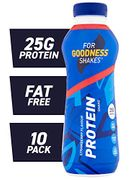 For Goodness Shakes Protein Strawberry Drink 475ml - Pack of 10  - 25g Protein