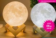 3D LED Wooden Base Moon Lamp