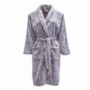 Rose Design Fleece Dressing Gown