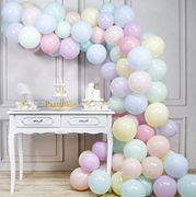 PartyWoo Pastel Balloons, 100 Pcs 10 in Pastel Colour Balloons