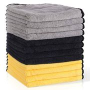 Microfibre Cleaning Cloths Pack of 12 Car Microfiber Cloth Lint Free