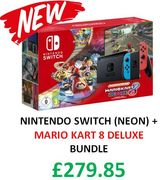 NEW BUNDLE! Nintendo Switch (Neon Blue/Neon Red) Mario Kart 8 Deluxe