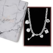Lipsy-Multi Charm Gift Necklace