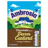 Ambrosia Chocolate Flavour Devon Custard 750G - HALF PRICE!