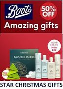 This Week's BOOTS STAR CHRISTMAS GIFTS