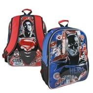 Batman v Superman Large Backpacks Kids 2 in 1School Travel Rucksack Bag