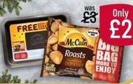 Free Roasting Tray When You Purchase McCain Roast Potatoes 1.4kg