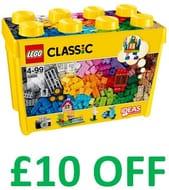 Get £10 Off! Lego Classic: Large Creative Brick Box (10698)