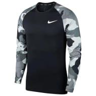 Nike Pro Camo Long Sleeve T Shirt Mens