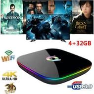 Q plus 6K Smart TV Box Android 9.0 Allwinner H6 WiFi Media Player 4GB/32GB