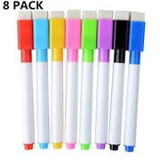 Smooth Fine Point Whiteboard Pens with Erasers