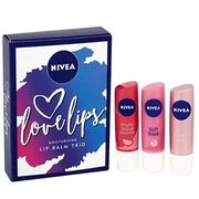 Nivea Love Lips Lip Balm Gift Set 3 Piece at Poundshop