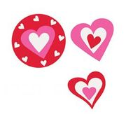 24 Card Heart Cutouts - Valentines Day Parties & Events