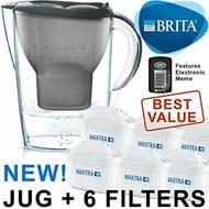 BRITA Marella MAXTRA+ plus 2.4L Water Filter Jug + 6 Month Cartridges