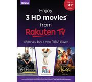 ROKU Premiere 4K HDR Streaming Media Player + 3 FREE HD Movies