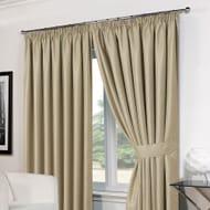 Basket Weave Blackout Curtains & Tie Backs