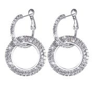 Sparkling Silver Earrings