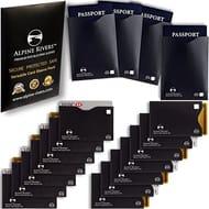 18 RFID Blocking Sleeves (14 Credit Card Holders & 4 Passport Protectors)