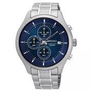 Seiko Men's Blue Chronograph Dial Stainless Steel Watch