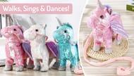 Walking, Singing & Dancing Interactive Glitter Unicorn - 3 Colours