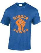 Crown Designs Ginger Power Men & Teenagers T-Shirts Tops FREE DELIVERY