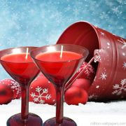 Christmas Noel Scented Candle Twin Pack Glasses delivery 1.99