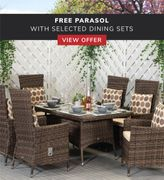 Free Parasol with Selected Dining Sets
